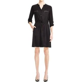 Design History Womens Casual Dress Sheath Zipper Detail