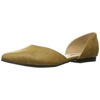 2 Lips Too Womens Too Win Flats Faux Leather Pointed Toe