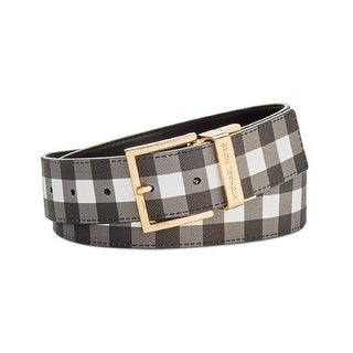 654a597b45cc ... real shop michael michael kors womens reversible gingham leather belt  black l free shipping today overstock