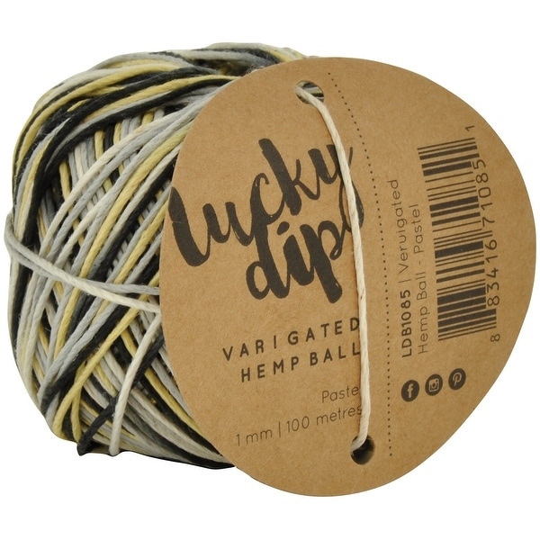 Lucky Dip Hemp Cord 1.0Mmx100m Ball-Ocean Variegated