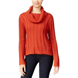 Hooked Up by IOT Womens Juniors Pullover Sweater Solid Ribbed Knit