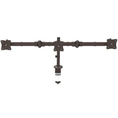 """Startech Triple Monitor Mount - Articulating - Clamp Or Grommet Mount - Monitors Up To 24"""" - Armtrio"""