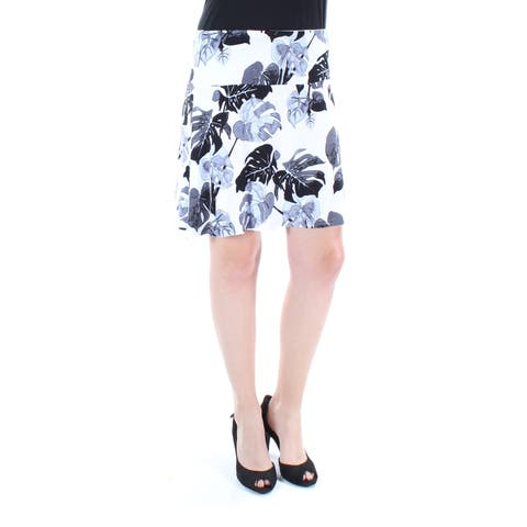 KENSIE Womens White Floral Above The Knee Pencil Skirt Size: S