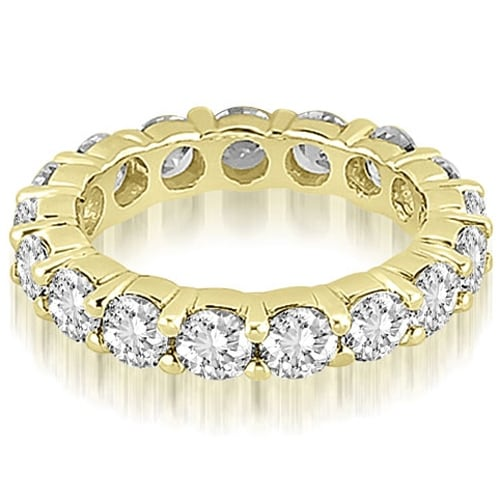3.40 cttw. 14K Yellow Gold Round Diamond Eternity Ring