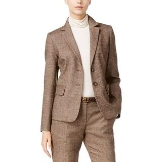 MaxMara Womens Two-Button Blazer Wool Herringbone
