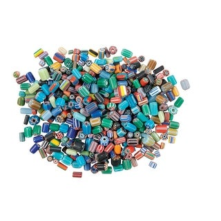 School Specialty Glass Assorted Shape Bead, 5 - 8 mm, Assorted Color, 0.5 lb