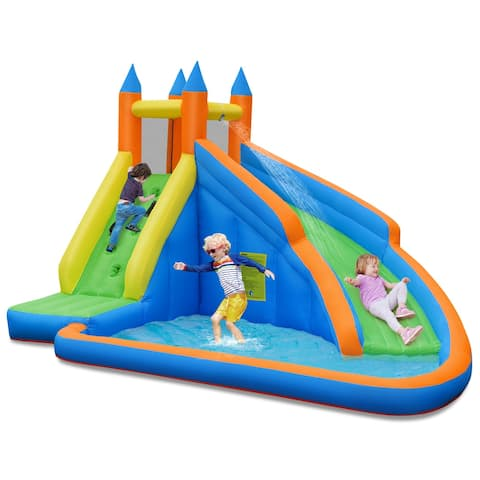 Costway Inflatable Water Slide Mighty Bounce House Jumper Castle