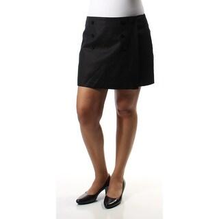 MAISON JULES $49 Womens New 1070 Black Mini A-Line Casual Skort 12 B+B