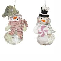 "Club Pack of 12 Snowman with Candy Christmas Hanging Ornaments 3.5"" - WHITE"