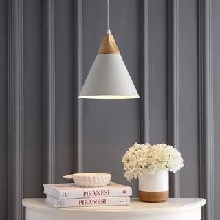 Link to Safavieh Lighting Cila Adjustable 1-light LED White Pendant Similar Items in Pendant Lights