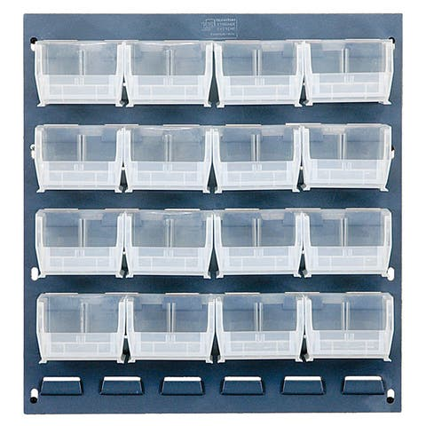 Offex Clear View Louvered Panel Bin Storage System
