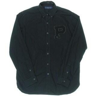 Ralph Lauren Mens Applique Long Sleeves Button-Down Shirt