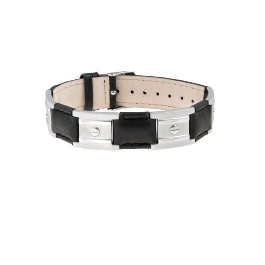 Sabona Jewelry Adult Bracelet Stainless Nailhead Magnetic Black 265