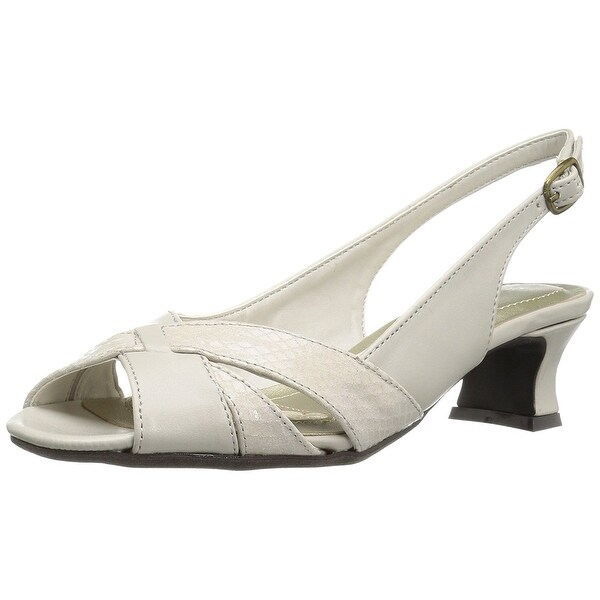 Easy Street Womens ariel Fabric Open Toe Casual Slingback Sandals