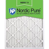 Nordic Pure12x25x1 Pleated MERV 13 AC Furnace Air Filters Qty 6