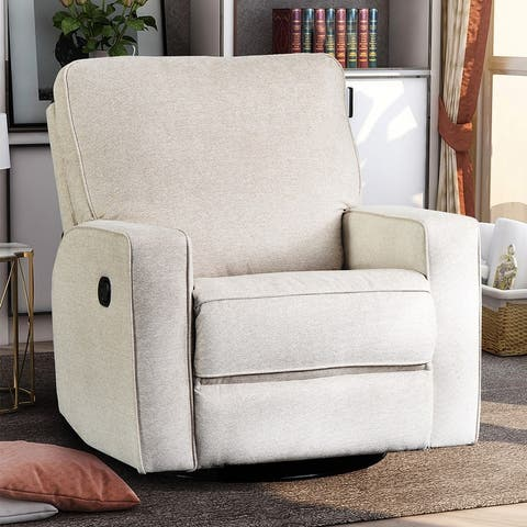 Merax Manual 360 Degree Swivel and Rocking Recliner Chair with Padded Seat