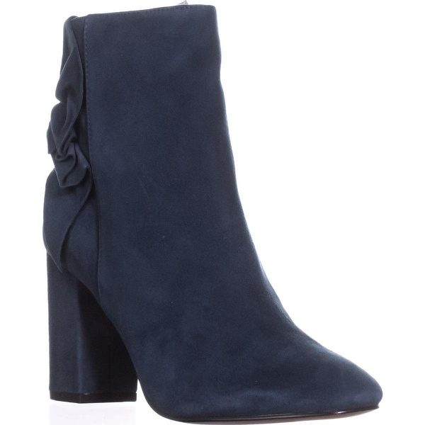 Avec Les Filles Remi Sinched Ankle Boots, Midnight Navy - 6.5 us