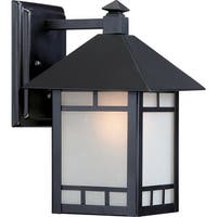 """Nuvo Lighting 60/5601 Drexel 1-Light 10-1/2"""" Tall Outdoor Wall Sconce with Frosted Glass Shade - Stone Black - N/A"""