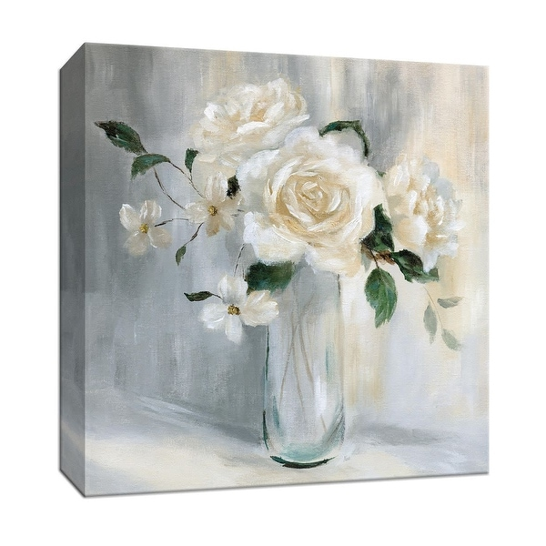 """PTM Images 9-147344 PTM Canvas Collection 12"""" x 12"""" - """"Carolina Springs Bouquet I"""" Giclee Flowers Art Print on Canvas"""