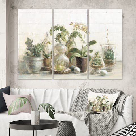 Porch & Den 'Greenhouse Orchids' Canvas Artwork