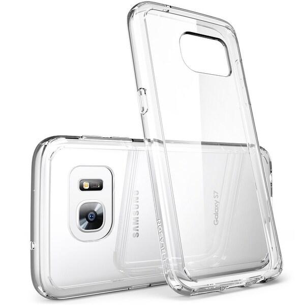Galaxy S7 Case, Scratch Resistant,i-Blason Clear Halo Series Samsung Galaxy S7 Hybrid Bumper Case Cover 2016-Clear