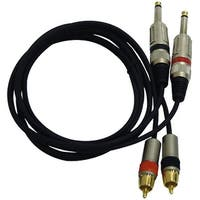 Dual 5ft. Professional Audio Link Cable 1/4'' Male to RCA Male