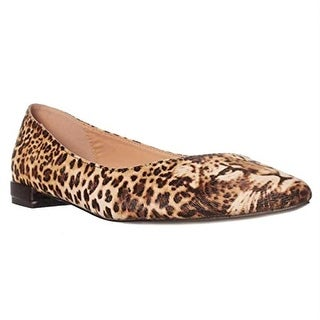 Izabella Rue Leo Ballet Flats - Brown Leopard