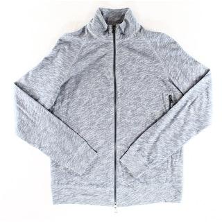 Nordstrom NEW Solid Heather Blue Mens Size Medium M Full Zip Sweater