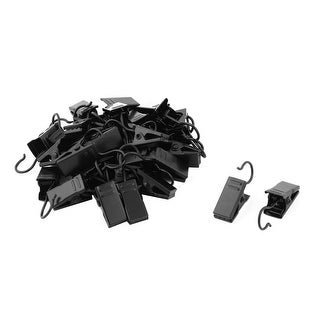 Metal Spring Loaded Sawtooth Window Curtain Drapery Clips Clamps Black 30pcs
