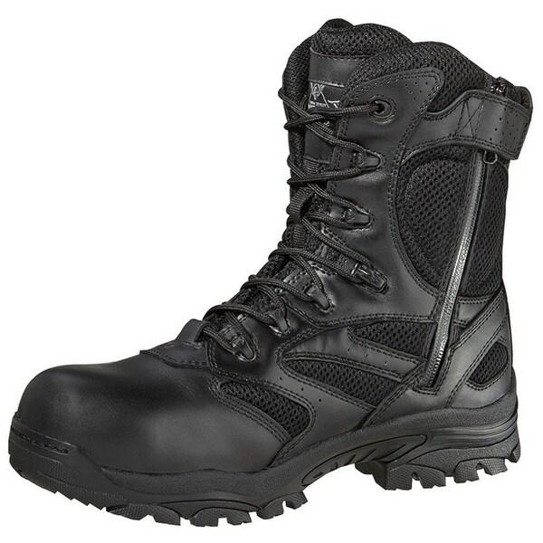 Thorogood Work Boot Mens Waterproof Leather Side Zip CT Black 804-6191