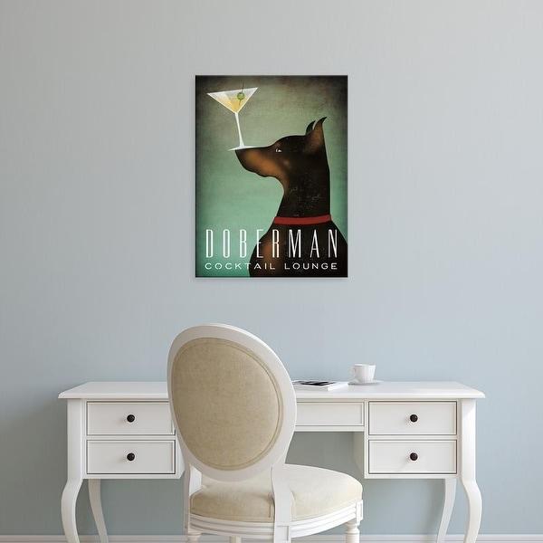 Easy Art Prints Ryan Fowler's 'Doberman Martini' Premium Canvas Art