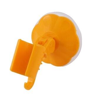 Attachable Bathroom Shower Head Holder Wall Suction Cup Bracket Orange