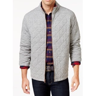 Weatherproof NEW Gray Mens Size Medium M Quilted Front Zip Lined Jacket