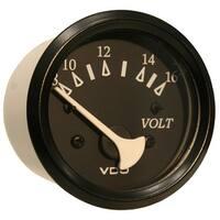 VDO Allentare Black Voltmeter - 8-16V - Black Bezel