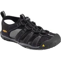 Keen Clearwater CNX Men Sandal, Water Shoe, Black/Gargoyle, 11.5 - Black