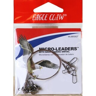 """Eagle Claw 8"""" Wire Micro-Leaders with Ball Bearing Swivel 3-Pack - copper"""