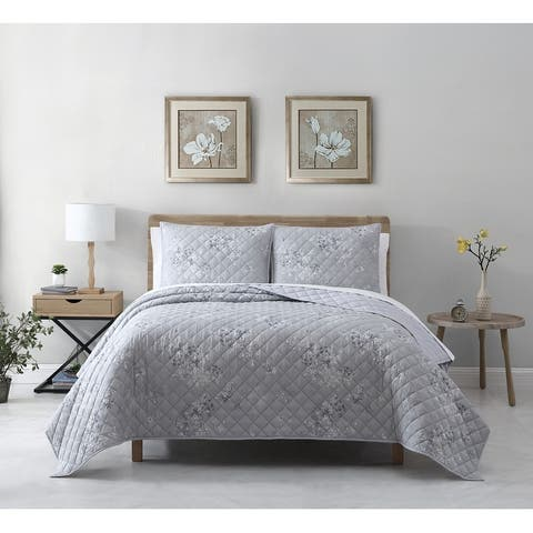 Avery Homegrown Rhodes Cotton Lyocell Floral Quilt Set