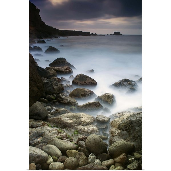 """Rocks near sea"" Poster Print"