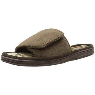 Wembley Mens Slide Slippers Velour Mule