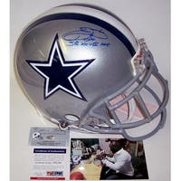 Emmitt Smith Autographed Hand Signed Dallas Cowboys Authentic Helmet  PSADNA