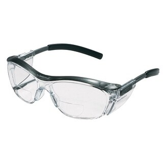 3M 91192-00002 Readers Safety Glasses, Black Frame Clear Lens, +2.0