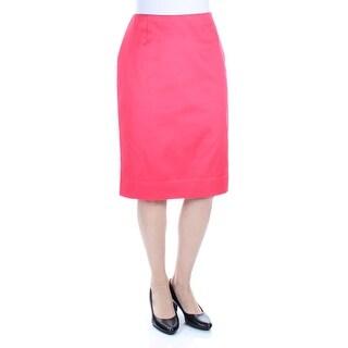 CHARTER CLUB $44 Womens New 1298 Coral Below The Knee Pencil Casual Skirt 6 B+B