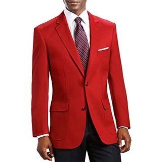 Shop Men S Elegant Classic 2 Button Blazer Sport Jacket In Red