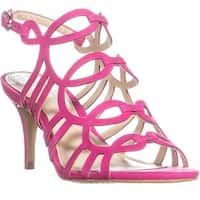Vince Camuto Petina Ankle Strap Heeled Sandals, Hot Berry Pink