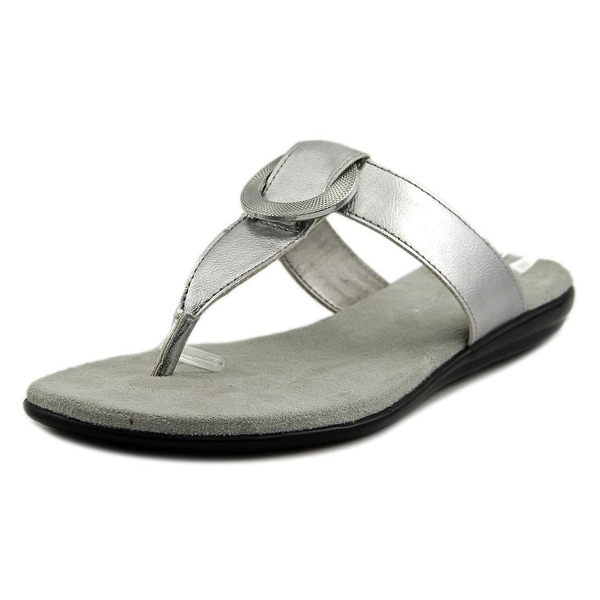 Aerosoles Supper Chlub Women Open Toe Synthetic Silver Thong Sandal