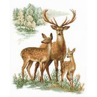 """Deers Counted Cross Stitch Kit-15.75""""X19.75"""" 14 Count"""