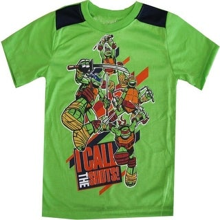 TNT Ninja Turtles Little Boys Green Short Sleeve Shirt Top 4-7