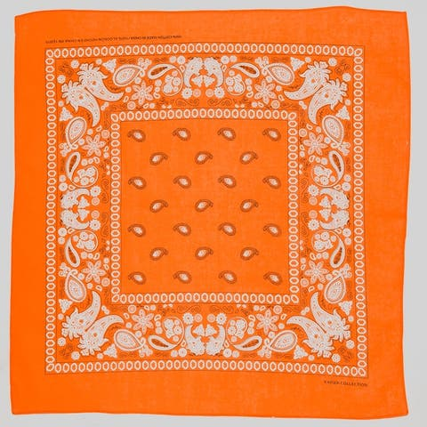 Bandana Face Mask Cover Head Wrap Scarf 100% Cotton Paisley - One Size Fits Most