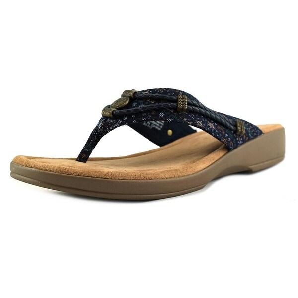 Minnetonka Memphis Open Toe Synthetic Thong Sandal
