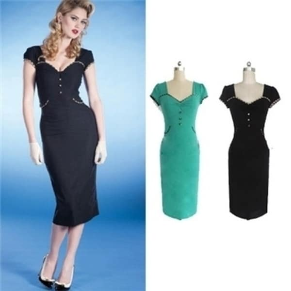 653f3c370 Women Vintage Pencil Dress Bodycon Dress Plus Size XXL Dress Summer Spring  OL hot Long Bandage